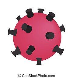 Dangerous virus isometric 3d icon