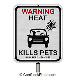 Dangers of leaving a dog in parked cars