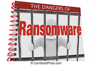 Dangers of Ransomware Internet Cyber Attacks Book 3d...