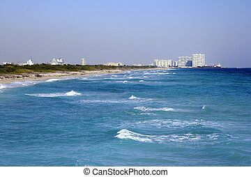 Dania Beach, Port Everglades - Beautiful blue coast water...