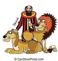 Daniel and lions - The Jewish prophet and wise man Daniel is...