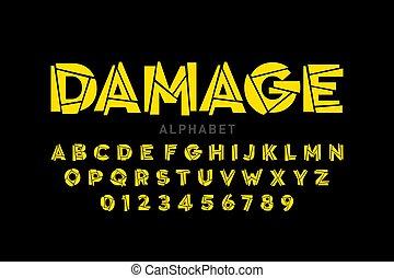danificado, fonte