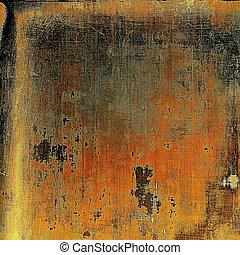 danificado, (orange);, grunge, cor, vindima, abstratos, diferente, amarela, ou, (beige);, brown;, experiência preta, patterns:, texture., vermelho