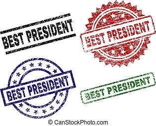 danificado, selo, selos, textured, presidente, melhor