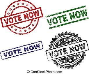 danificado, textured, selos, selo, voto, agora