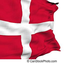 danimarca, immagine, bandiera