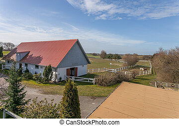 Danish Farm House and paddock - Traditional Danish Farm...