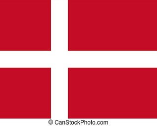 Danish flag, flat layout, vector illustration