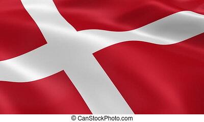 Danish flag in the wind