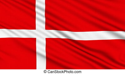 Danish Flag, with real structure of a fabric
