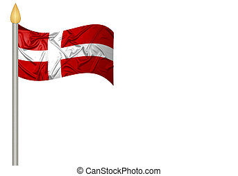 Danish flag with ripples