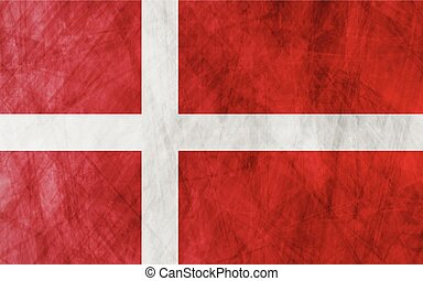 Danish grunge flag background
