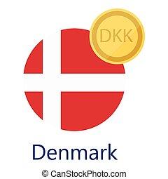 Danish Krone vector