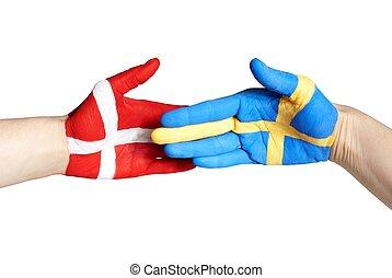 danish swedish handshake