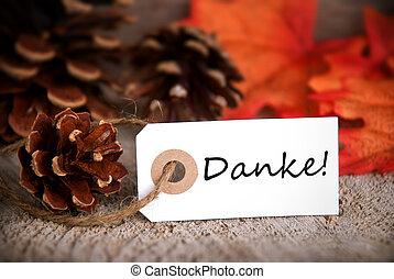 danke, automne, étiquette