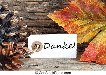 danke, fond, automne