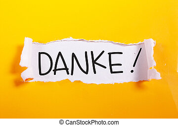 Danke, Motivational Words Quotes Concept