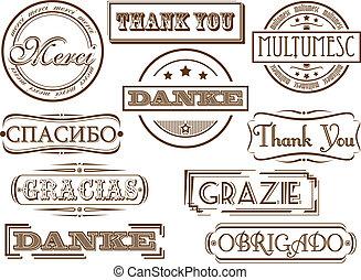 danken, briefmarken, sie