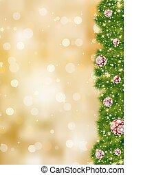 danken, eps, helder, kerstmis., 8, u, kaart