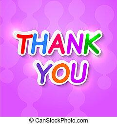 danken, paarse , vector, achtergrond, reflections., u, ...