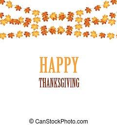 dankzegging, ontwerp, herfstachtig, achtergrond, leaves.