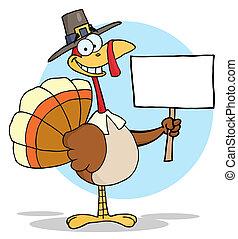 dankzegging, vrolijke , turkije, pelgrim