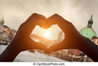 danne, hænder, hjerte