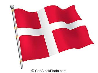 Dannebrog - Denmark civic and state flag