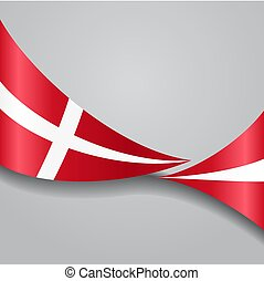 danois, ondulé, vecteur, illustration., flag.