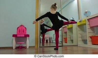 dans, ballerina, klein meisje