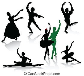 Dans, Ballerinaer, Silhuetter