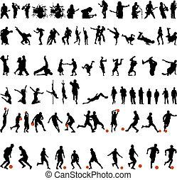 dans, en, sportende, set
