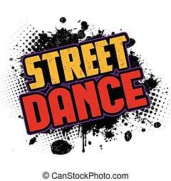 dans, inkt, black , splatter, achtergrond, straat