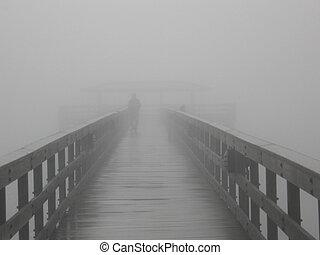 dans, les, brouillard