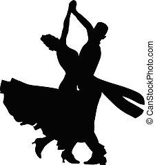 dans, sportende, ballroom het dansen