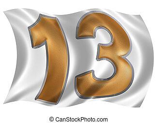 Render drapeau isol romain fond vent chiffre 60 for Chiffre treize