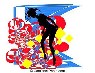 dansande, flicka