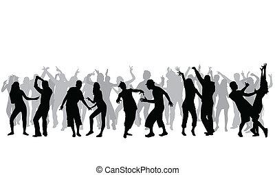 dansande, folk