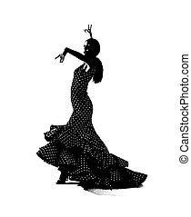 dansare, flemenco