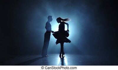 danse, émotif, latinamerican, exécuté, gracieux, champions, ralenti