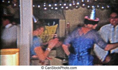 danse, 1953:, veille, année, nouveau, fête