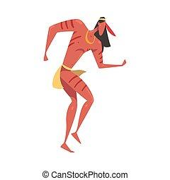 danse, américain, illustration, danse, homme, vecteur, style...