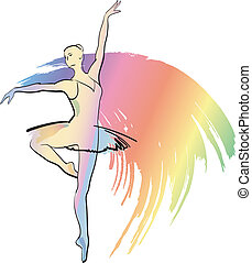 danse, ballerine, girl