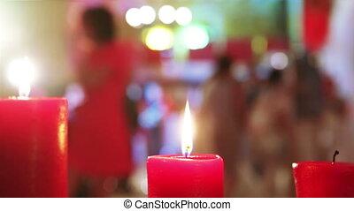 danse, bougies, mariage