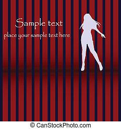danse, carte, silhouette, disco, conception, glam