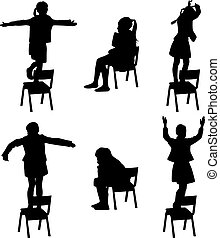 danse, chaise