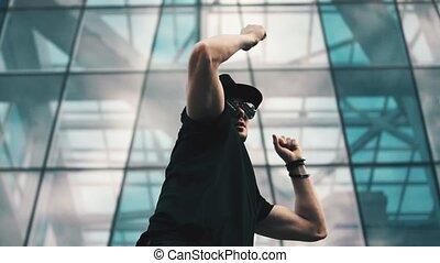 danse, chapeau, jeune homme