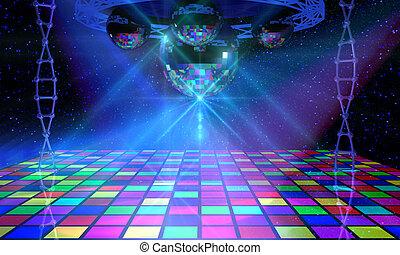 danse, coloré, plancher