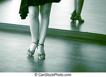 danse, danseur, salle bal