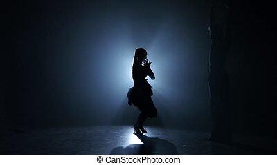 danse, enfumé, rumba, studio, exécuté, émotif, gracieux, champions
